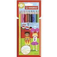 STABILO Color 12 Stück in Pappverpackung + Neonfarben - Bundstifte