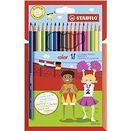 STABILO Color 18 Stück in Pappverpackung + Neonfarben - Bundstifte