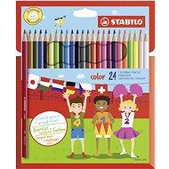STABILO Color 24 Stück in Pappverpackung + Neonfarben - Bundstifte