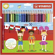STABILO Color 30 Stück Packung + Neonfarben - Bundstifte