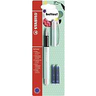 STABILO beCrazy! Fountain Pen Pastel Turquoise/White + 2 Refills - Fountain pen