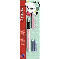 STABILO beCrazy! Fountain Pen Pastel Pink/White + 2 Refills - Fountain Pen