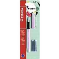 STABILO beCrazy! Fountain Pen Pastel Purple/White + 2 Refills - Fountain pen
