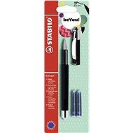 STABILO beCrazy! Fountain Pen Uni Colours, Black + 2 Refills - Fountain Pen