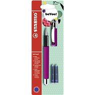 STABILO beCrazy! Fountain Pen Uni Colours, Red + 2 Refills - Fountain pen