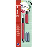 STABILO beCrazy! Fountain Pen Uni Colors, Red Watermelon Splash + 2 Refills - Fountain pen