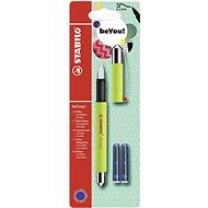 STABILO beCrazy! Fountain Pen Uni Colours, Lime Punch + 2 Refills - Fountain pen