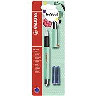 STABILO beCrazy! Fountain Pen Uni Colors, Menthol Green + 2 Refills - Fountain pen