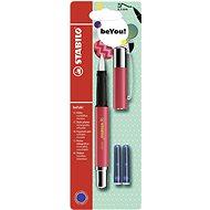 STABILO beFab! Fountain Pen Uni Colours, Red Watermelon Splash + 2 Refills - Fountain pen