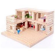 Holzbausatz Buko - Zweistöckiges Haus 302 Teile - Holzbausatz