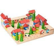 Holzbausatz Kleine Stadt - 89 Teile - Holzbausatz