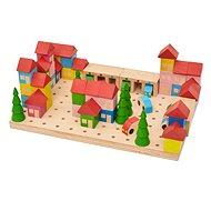 Holzbausatz Kleinstadt - 67 Teile - Holzbausatz