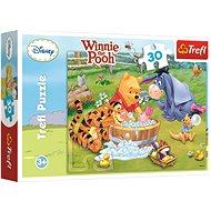 Trefl Puzzle Winnie the Pooh Das Schweinchen badet 30 Teile - Puzzle