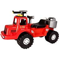 Teddies Feuerwehrauto mit Wassertank und Wasserspritze 70cm - Laufrad/Bobby Car