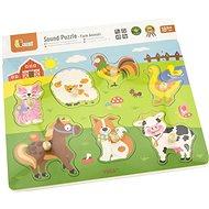 Holzpuzzle Tiere - mit Tierlauten - Holzspielzeug