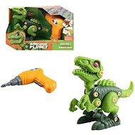 Dinosaurier Bausatz - Batterie - 20 cm - grün - Bausatz
