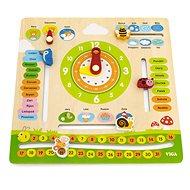 Holz Kalender auf Tschechisch - Holzspielzeug