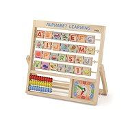 Holz Alphabet und Uhr - Holzspielzeug