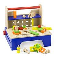 Holzschrauben mit Werkzeugen - Holzspielzeug