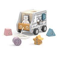VIGA Holzspielzeug - Nachzieh-Lastwagen zum Sortieren - Holzspielzeug