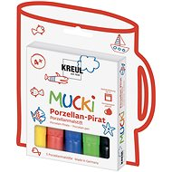 "KREUL ""MUCKI PIRATE"" Porcelain Markers, 5 Colours - Felt Tip Pens"