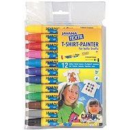 """KREUL - JAVANA """"Texi Max Medium Sunny"""" Textile Marker Set, 2-4mm, 12 pcs - Felt Tip Pens"""