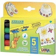 """KREUL - JAVANA """"Texi Max Medium"""" Textile Marker Set, 2-4mm 5 pcs - Felt Tip Pens"""