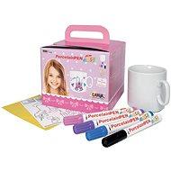 KREUL EASY Set of Porcelain Markers with Cup for Girls - Felt Tip Pens