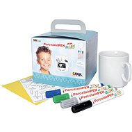 KREUL EASY Porcelain Fixer Set with Cup for Boys - Felt Tip Pens