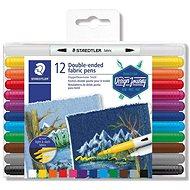 """STAEDTLER """"Design Journey"""" Fixy na textil, 12 různých barev, oboustranné - Fixy"""