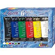 "KREUL ""EL GRECO"" Acrylfarben-Set, 6 Farben, 75 ml in der Tube - Set"