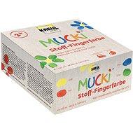 """KREUL """"MUCKI """"Fingerfarben-Set für Textil, 4 Farben 150 ml, Hobby Line - Set"""