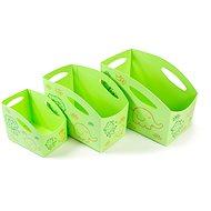 PRIMOBAL Aufbewahrungsboxen-Set für Kinder - grün - 3 Stück - Größe S + M + L - Aufbewahrungsbox