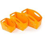 PRIMOBAL Aufbewahrungsboxen-Set, für Kids, orange, 3-teilig, Größen S + M + L - Aufbewahrungsbox
