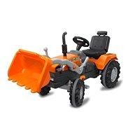 Jamara Power Drag Trettrecker mit Schaufel - orange - Trettraktor