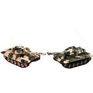 Teddies Tank RC 2 Stück 25 cm Camo Battle Tank + Ladepack, 27 MHz und 40 MHz - Panzer mit Fernsteuerung