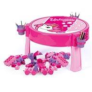 Dolu 2in1 Spieltisch Unicorn mit Bausteinen