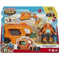 Transformers Rescue Bot Auto mit einem Wedge Rescue Trailer Anhänger - Figur