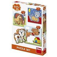 Puzzle Dino Baby Puzzle Set - Tiere 3-5 - Vkládačka