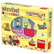 Holzwürfel Dino Fahrzeuge - Dřevěné kostky