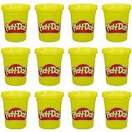 Play-Doh Paket mit 12 St Dosen gelb - Knetmasse