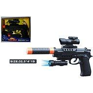 Pistole mit Schalldämpfer - Spielzeugwaffe