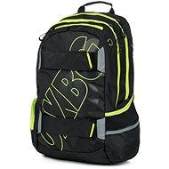 Rucksack OXY Sport BLACK LINE grün - Schulrucksack