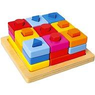 Fügen Sie Formen auf eine farbige Tafel ein