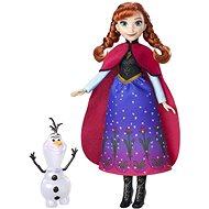 Frozen Anna mit schimmerndem Kleid und Olaf - Spielset