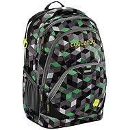 CoocaZoo EvverClevver 2 Crazy Cubes Green - Schulrucksack