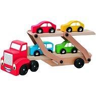 Woody Tahač s návěsem pro přepravu aut - Didaktisches Spielzeug