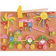 Woody Formen zum Nageln - rosa - Didaktisches Spielzeug