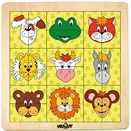 Woody Puzzle mit Tierköpfen - Puzzle