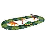 Autorennbahn Variable Bahn mit Dinosauriern